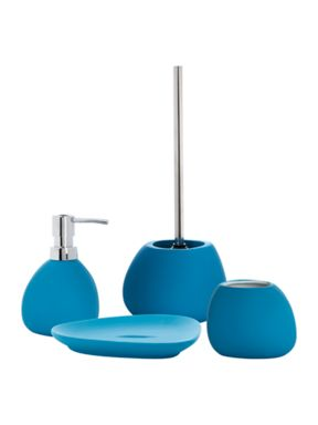 Linea Soft touch bathroom accessories in ocean