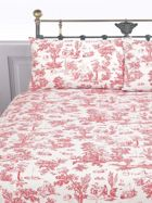 Linea Toile bedlinen set in red