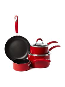 Principle red four piece pan set
