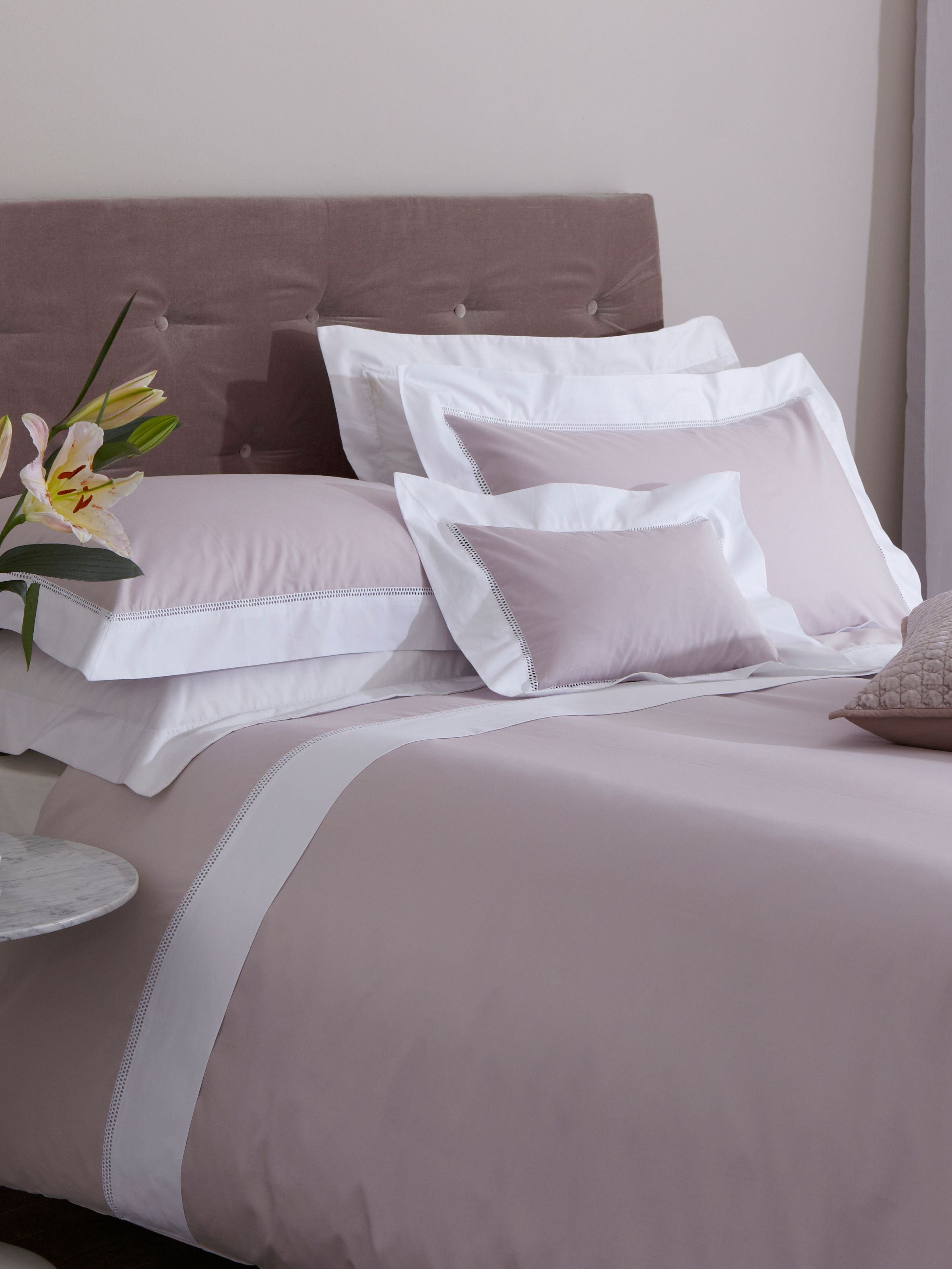 Pretty lace insert bed linen