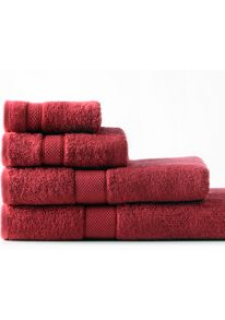Egyptian luxury towel range in scarlet