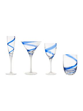 Linea by LSA Cobalt glassware collection