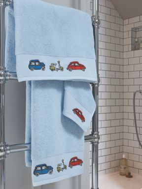Harlequin By Christy Go Go Retro towel range in pale blue