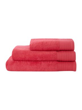 Hotel Collection Luxury 700 gsm cotton towels in Coral