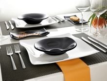 Cera dinnerware in black