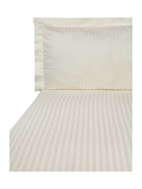 Hotel Collection Satin Stripe bed linen in cream