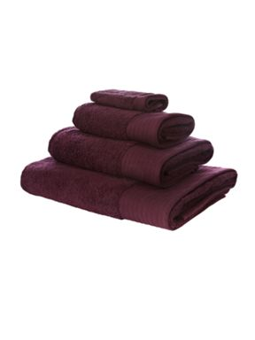 Luxury Hotel Collection Luxury 700 gsm cotton towels in damson
