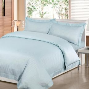 Hotel Collection Satin Stripe bed linen in duck egg