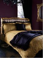 Biba Kareen bed linen in gold
