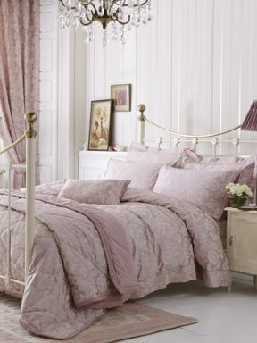 Dorma Elizabeth bed linen in pink