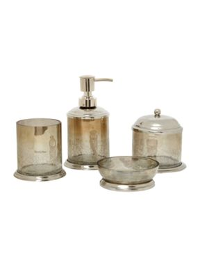 Linea Linea crackle glass bathroom accessories