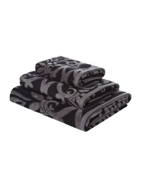 Pied a Terre Pied a Terre Jacquard towels in black