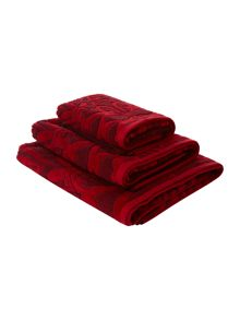Pied a Terre Jacquard towels in red