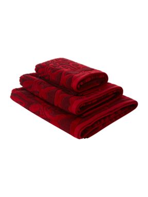 Pied a Terre Pied a Terre Jacquard towels in red