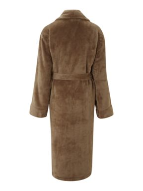 Linea Linea fleece robes in mocha