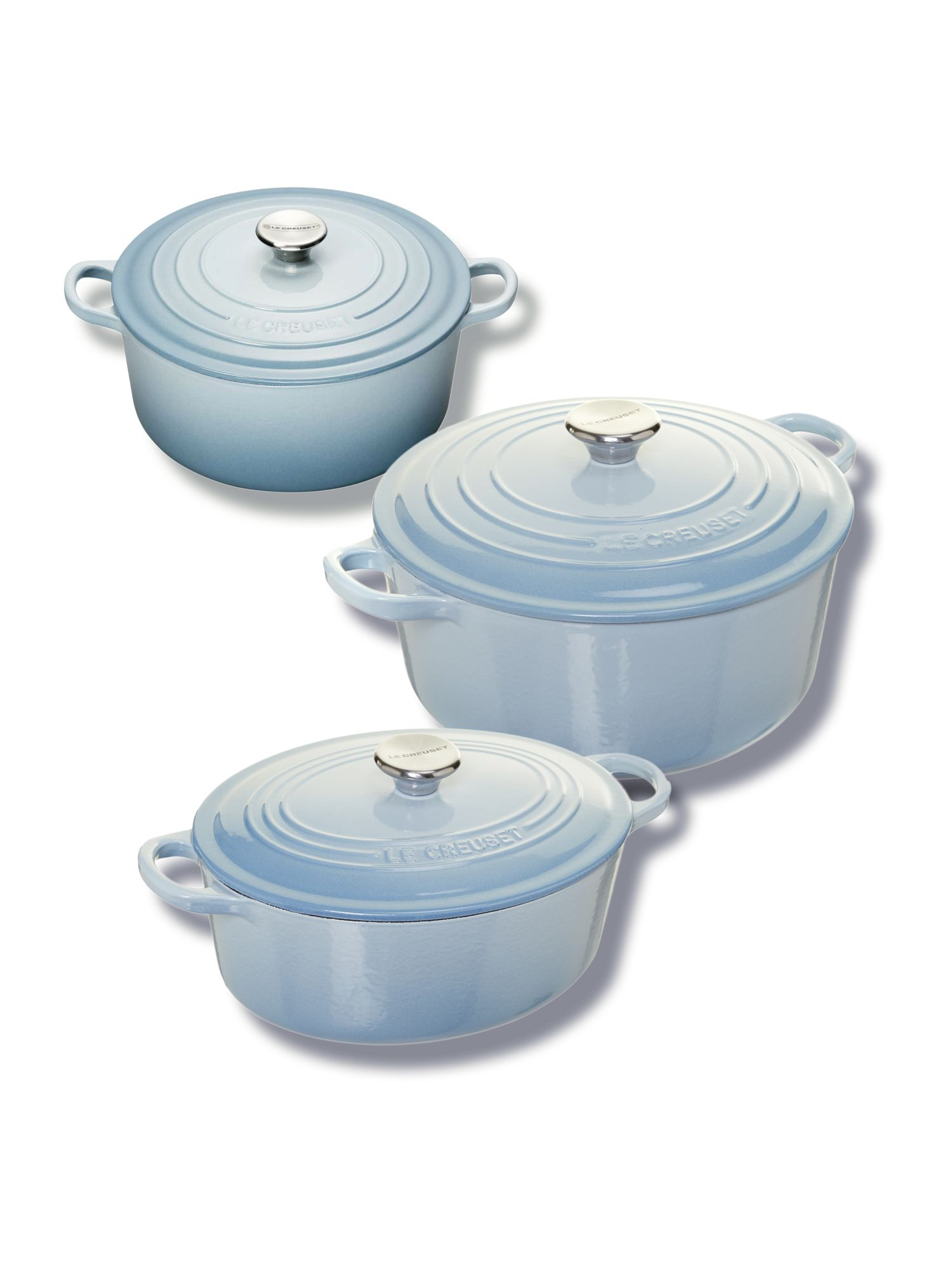 Cast Iron cookware in Coastal Blue