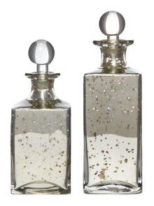 Shabby Chic Square glass decanters