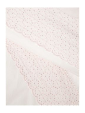 Shabby Chic Embroidered Frill bed linen in pink