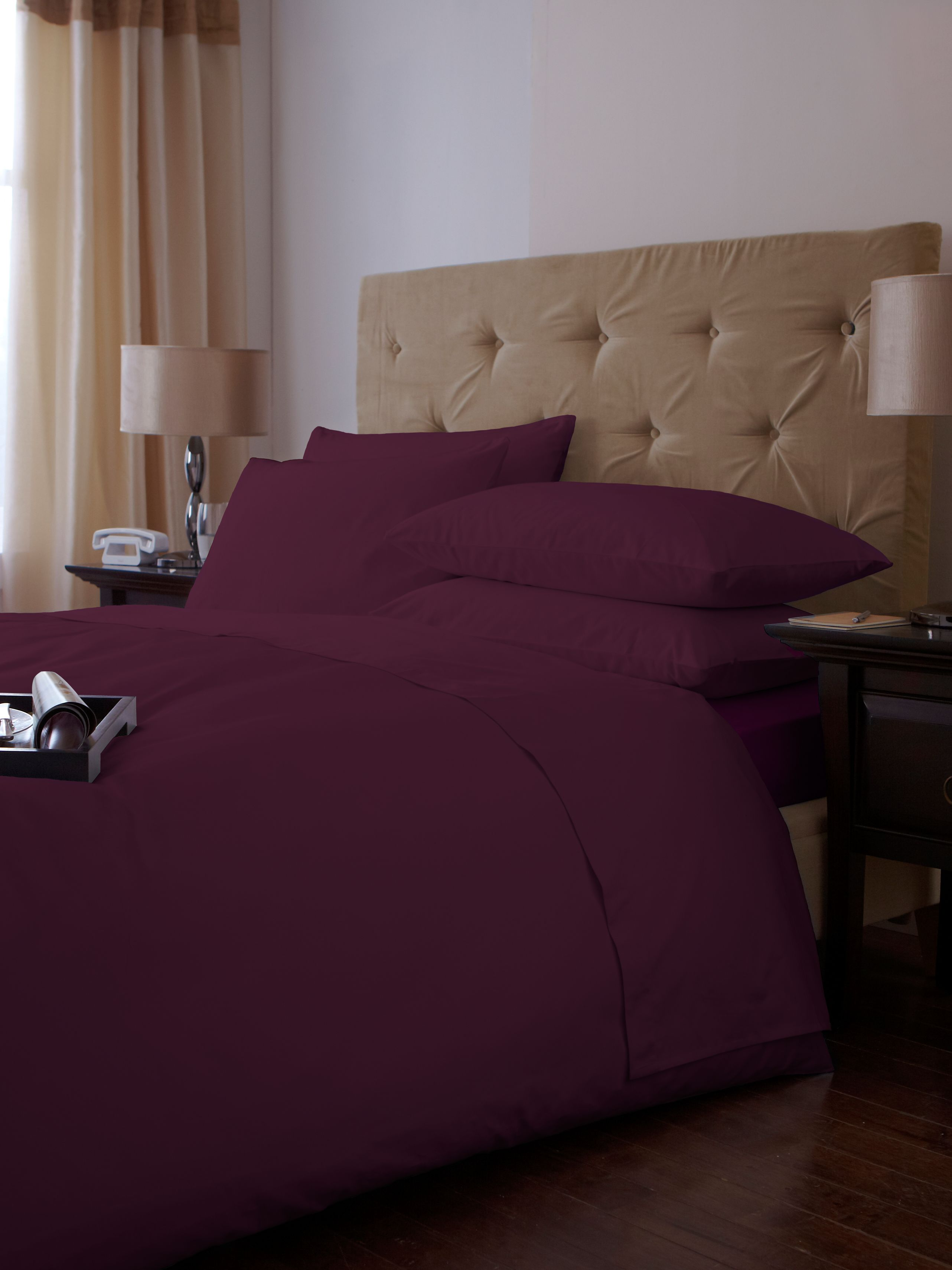 500 thread count sheeting range in plum