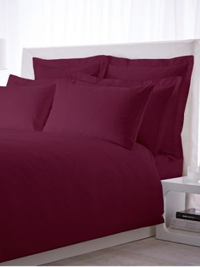 Hotel Collection 500 thread count sheeting range in plum