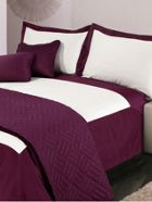 Luxury Hotel Collection 500 thread count Oxford bed linen plum