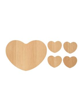 Linea Scandi oak heart placemats