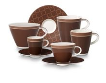 Caffe club dinnerware in uni mocha