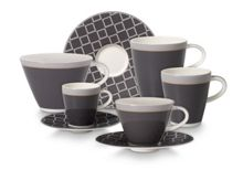 Caffe club dinnerware in uni steam