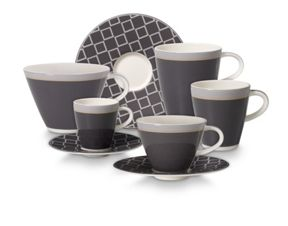 Villeroy & Boch Caffe club dinnerware in uni steam