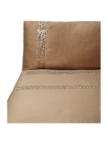 Safia bed linen in caramel