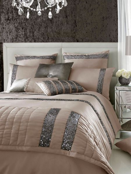 Kylie Minogue Safia super king duvet cover truffle