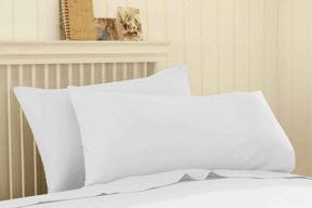 Silent Night Polycotton sheeting in white