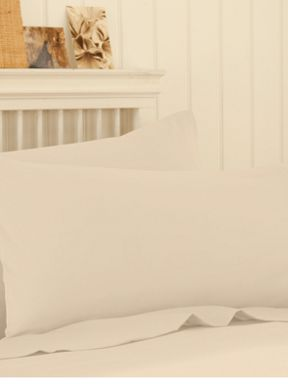 Silent Night Polycotton sheeting in brulee