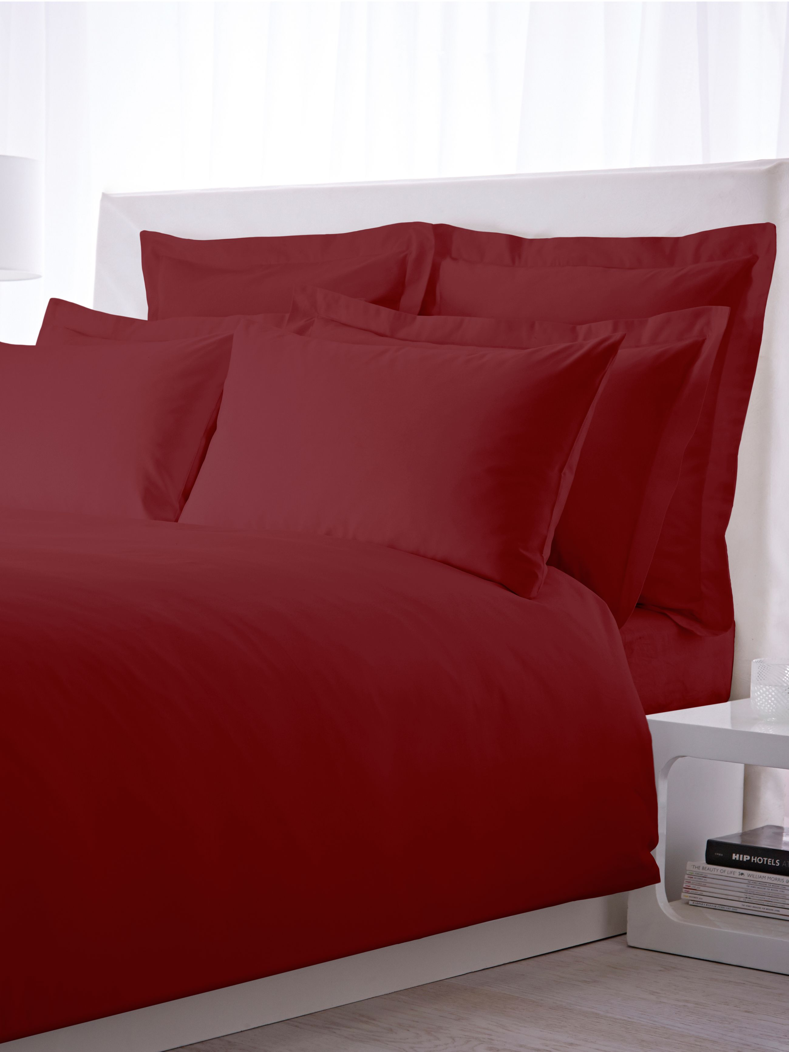 500 TC super king size flat sheet pair cherry