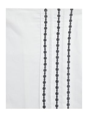 Luxury Hotel Collection Pearl embroidery bed linen in pewter