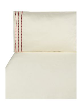 Luxury Hotel Collection Pearl embroidery bed linen in cherry