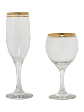 House of Fraser Classic gold fine blown glassware