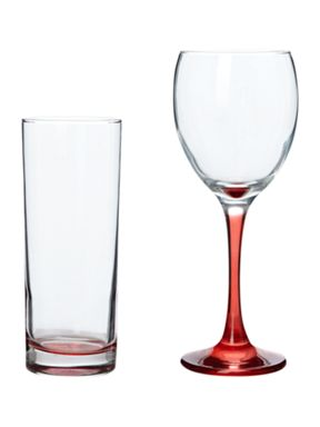 House of Fraser Brights glassware red