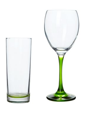 House of Fraser Brights glassware green