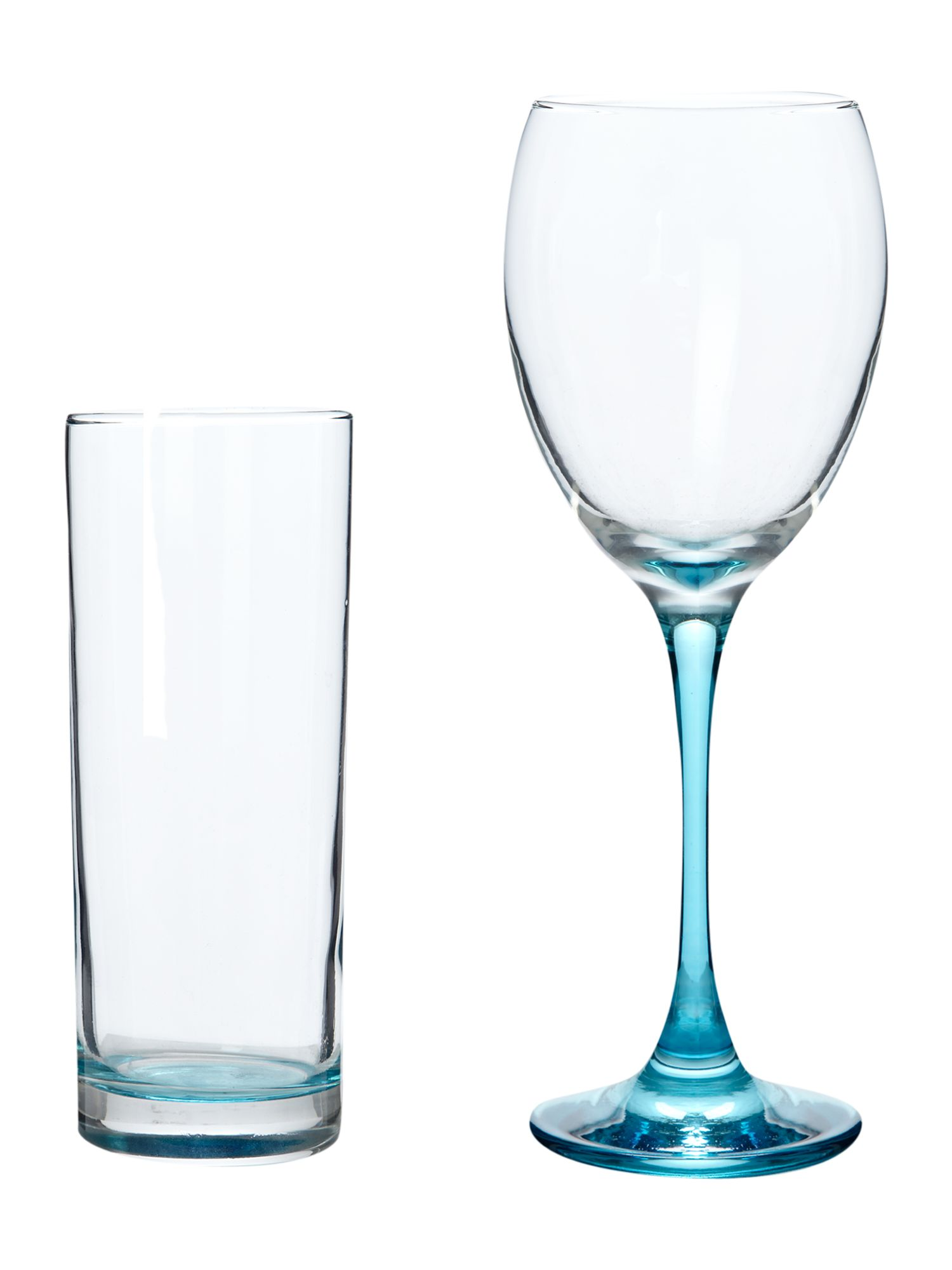 Brights glassware blue