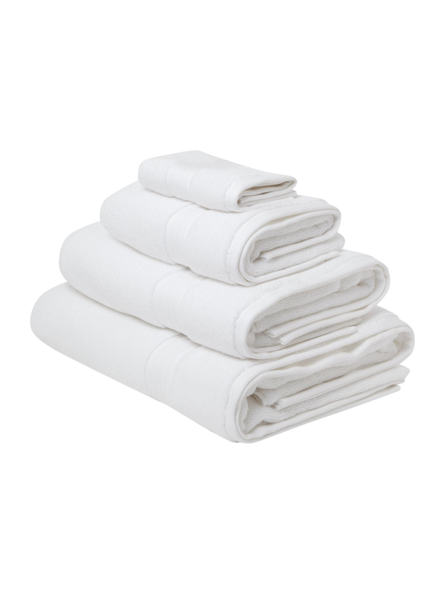 Zero twist towels white