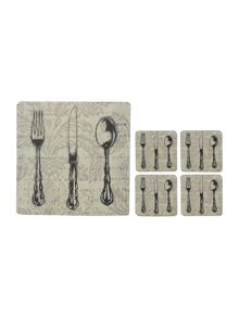 Cutlery placemats and coasters