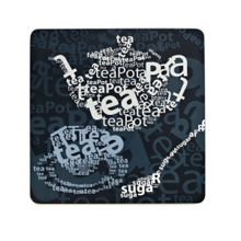 Tea text coasters set of 4