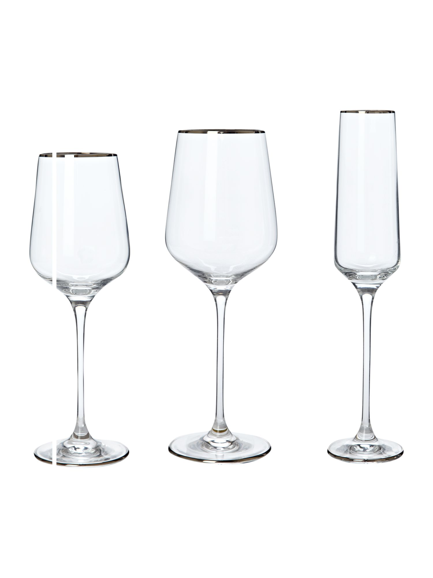 Platinum band glassware