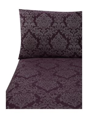 Pied a Terre Damask jacquard bed linen in purple