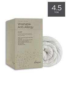 Washable anti allergy duvet range 4.5tog