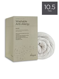 Washable Anti Allergy 10.5 tog single duvet