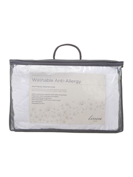 Linea Washable Anti Allergy single mattress protector