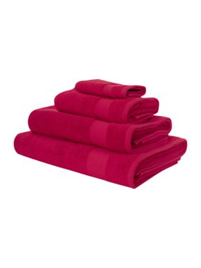 Linea Egyptian cotton towels in bright pink