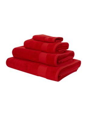 Linea Egyptian cotton towels in red